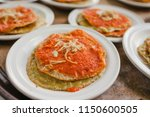 chalupas poblanas mexican food...   Shutterstock . vector #1150600505