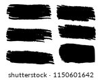 collection of hand drawn black... | Shutterstock .eps vector #1150601642