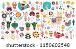 big vector collection with cute ... | Shutterstock .eps vector #1150602548