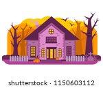 halloween haunted house.old...   Shutterstock .eps vector #1150603112