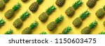 chaotic pineapple pattern for... | Shutterstock . vector #1150603475