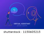 virtual assistant and voice... | Shutterstock .eps vector #1150605215