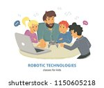 robotic technologies classes... | Shutterstock .eps vector #1150605218