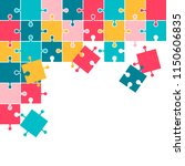 colorful mosaic background... | Shutterstock .eps vector #1150606835