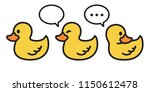 Duck Vector Icon Logo Cartoon...