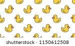 Duck Seamless Pattern Vector...
