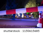red white interdictory tape   Shutterstock . vector #1150615685