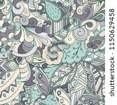 tracery seamless pattern.... | Shutterstock .eps vector #1150629458