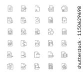 file document icon set | Shutterstock .eps vector #1150629698
