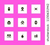 holiday icons. hotel location ... | Shutterstock .eps vector #1150631942