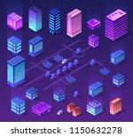 violet set 3d futuristic... | Shutterstock .eps vector #1150632278