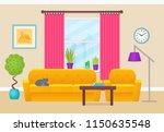 living room interior. vector... | Shutterstock .eps vector #1150635548