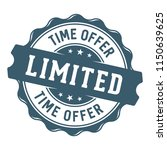 limited time offer label stamp | Shutterstock .eps vector #1150639625