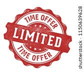 limited time offer label stamp | Shutterstock .eps vector #1150639628