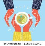 vector illustration of cup of... | Shutterstock .eps vector #1150641242