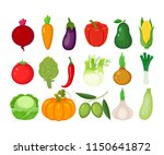 set of  vegetables. beetroot ... | Shutterstock .eps vector #1150641872