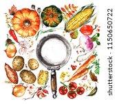 Autumn Vegetables. Watercolor...