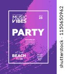 night party banner template for ... | Shutterstock .eps vector #1150650962