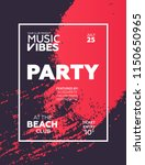night party banner template for ... | Shutterstock .eps vector #1150650965