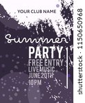 night party banner template for ... | Shutterstock .eps vector #1150650968