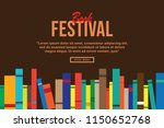 book in library illustration... | Shutterstock .eps vector #1150652768