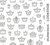 seamless pattern with crowns.... | Shutterstock .eps vector #1150655438