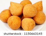 brazilian snacks  coxinha | Shutterstock . vector #1150663145