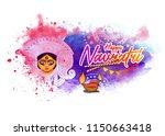 happy navratri festival... | Shutterstock .eps vector #1150663418