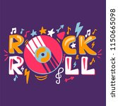 retro rock n roll label. music... | Shutterstock .eps vector #1150665098