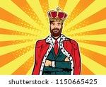 hipster business king.... | Shutterstock .eps vector #1150665425