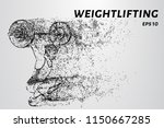 strong man powerlifting. the... | Shutterstock .eps vector #1150667285