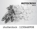 motocross particles. the rider... | Shutterstock .eps vector #1150668908