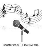 illustration of a microphone... | Shutterstock .eps vector #1150669508