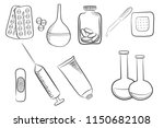set of different medical icons  ... | Shutterstock . vector #1150682108