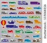 vector. 40 transportation icons. | Shutterstock .eps vector #115068316