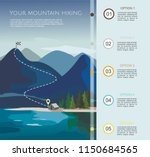 hiking route infographic ... | Shutterstock .eps vector #1150684565