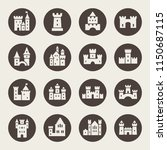 castle icon set | Shutterstock .eps vector #1150687115