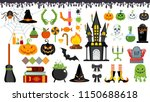 large set of flat vector icons... | Shutterstock .eps vector #1150688618