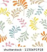 vector floral seamless pattern. ... | Shutterstock .eps vector #1150691918