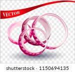 vector onion rings. red onions  ... | Shutterstock .eps vector #1150694135