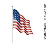usa flag isolated   Shutterstock .eps vector #1150694405