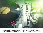 nightclub party dj audio setup... | Shutterstock . vector #1150695698