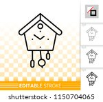 cuckoo clock thin line icon.... | Shutterstock .eps vector #1150704065