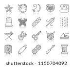 needlework thin line icons set. ...   Shutterstock .eps vector #1150704092