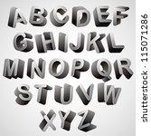 rounded 3d font  monochrome...   Shutterstock .eps vector #115071286