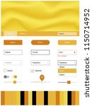 dark yellow vector web ui kit...