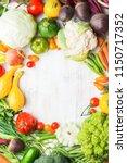 fresh farm produce  colorful... | Shutterstock . vector #1150717352