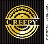 creepy golden emblem or badge | Shutterstock .eps vector #1150733558
