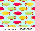 dirigible seamless pattern.... | Shutterstock .eps vector #1150738208