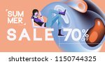 summer sale fashion promotion... | Shutterstock .eps vector #1150744325